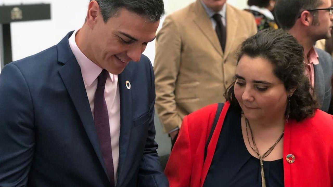 Pedro Sánchez y Teresa Valdés-Solís