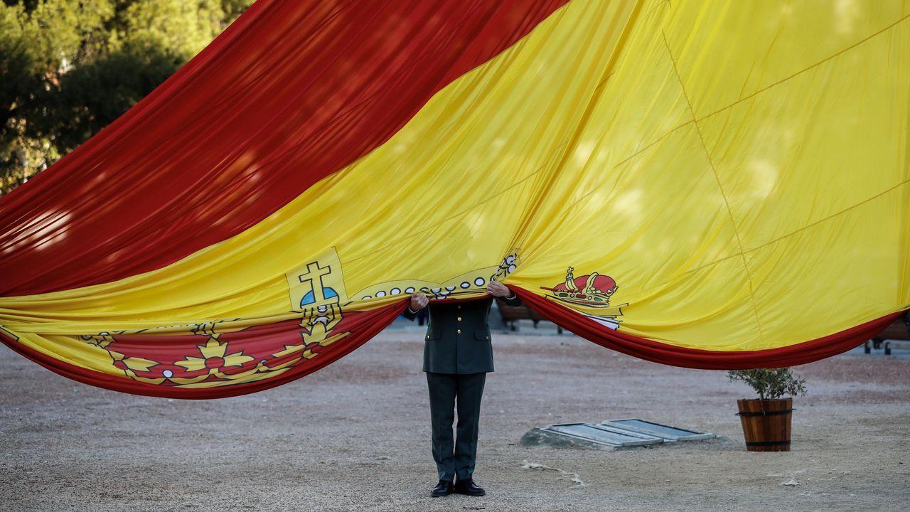 El 39 aniversario de la Constitución española.El exalcalde de Morcín, Jesús Álvarez Barbao