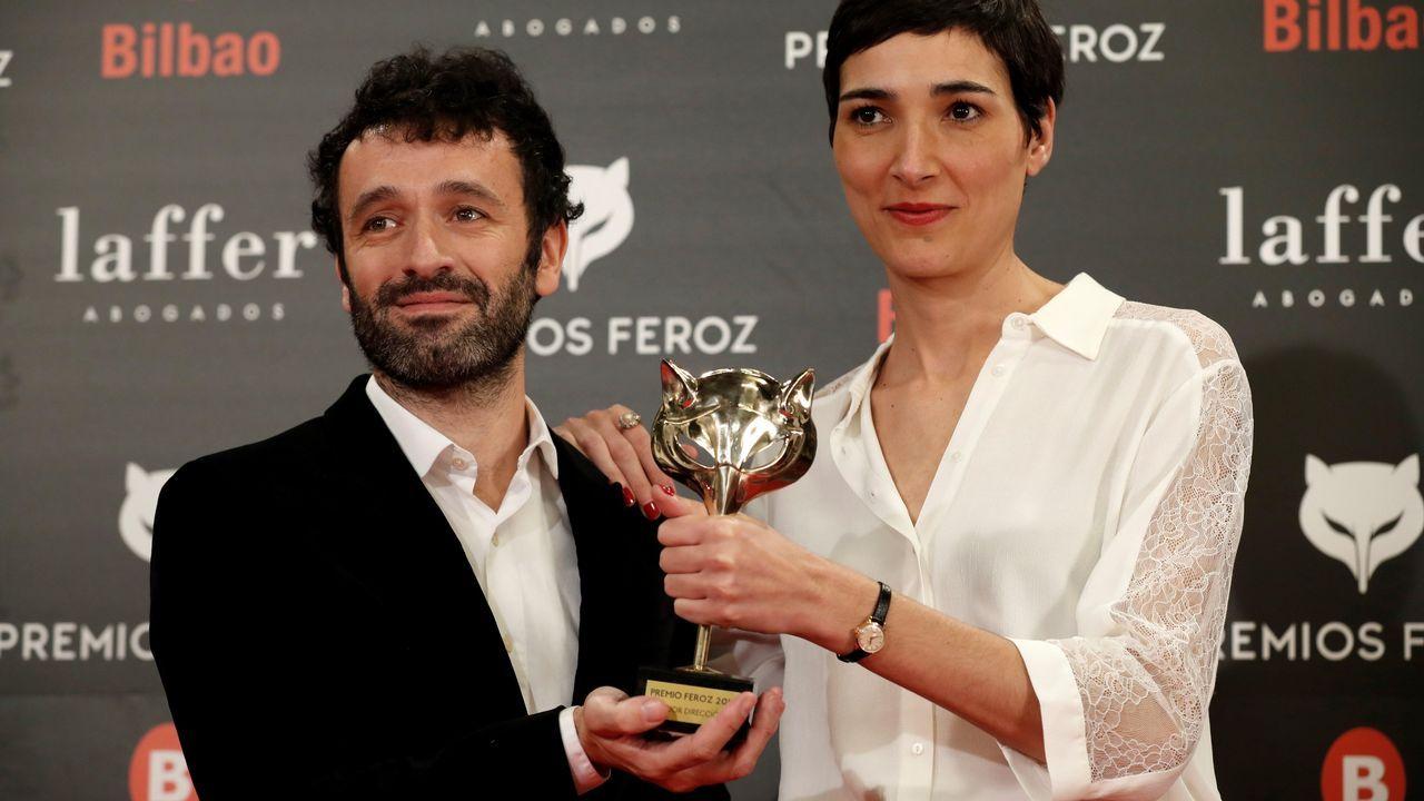 PREMIOS FEROZ. Rodrigo Sorogoyen e Isabel Peña con el premio a mejor guión por  El reino
