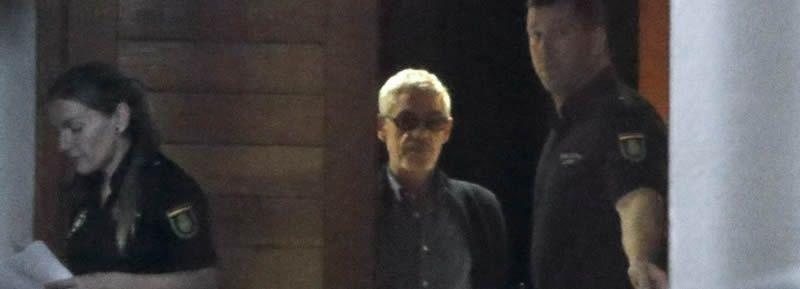 maqui.Francisco José Garzón sale de los juzgados de Santiago tras quedar en libertad con cargos