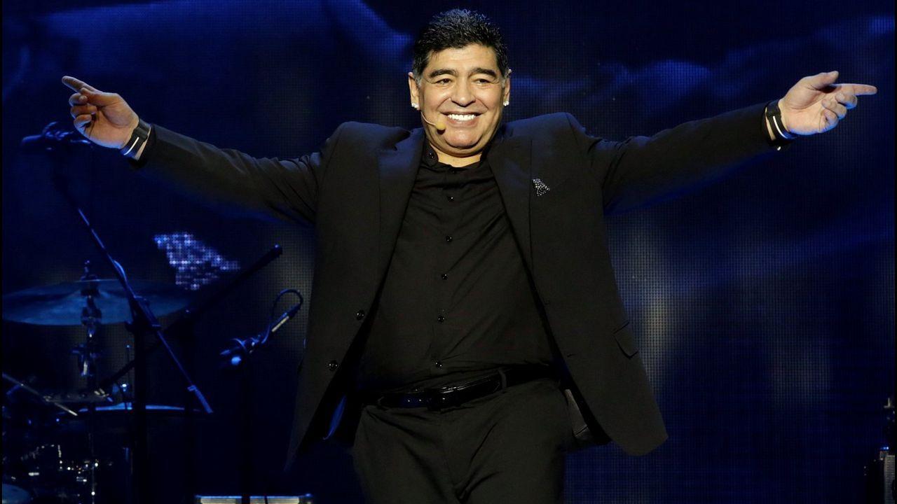 Saul Aaron Horizontal.Maduro y Maradona, juntos en Caracas
