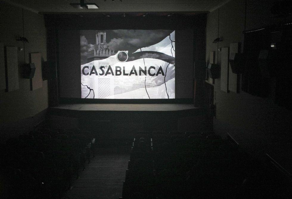 .El Novocine de Leiro, en una fotografía de archivo, ofrece dos películas