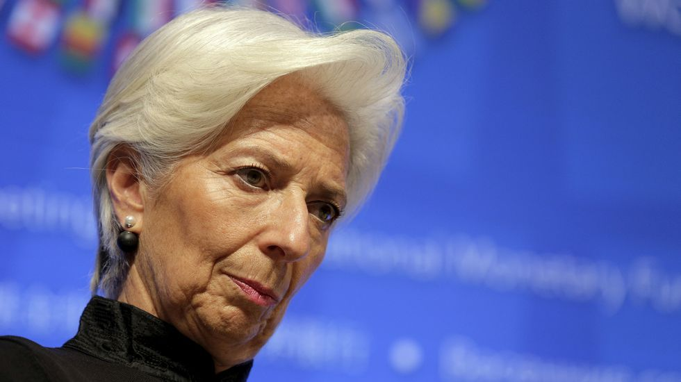 La directora general del FMI, Christine Lagarde