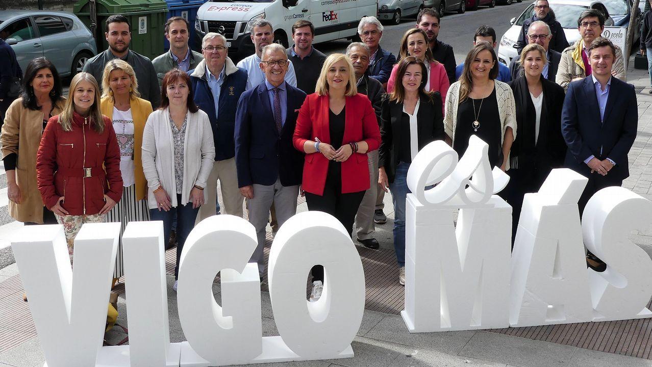 Ciclistas en Gijón.Alfredo Canteli, candidato del PP a la alcaldía de Oviedo