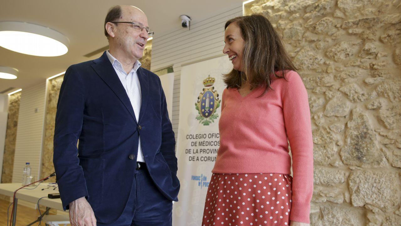 Manuel Aguilar y Gema García-Abril, presidente y gerente de la junta provincial de la AECC de A Coruña