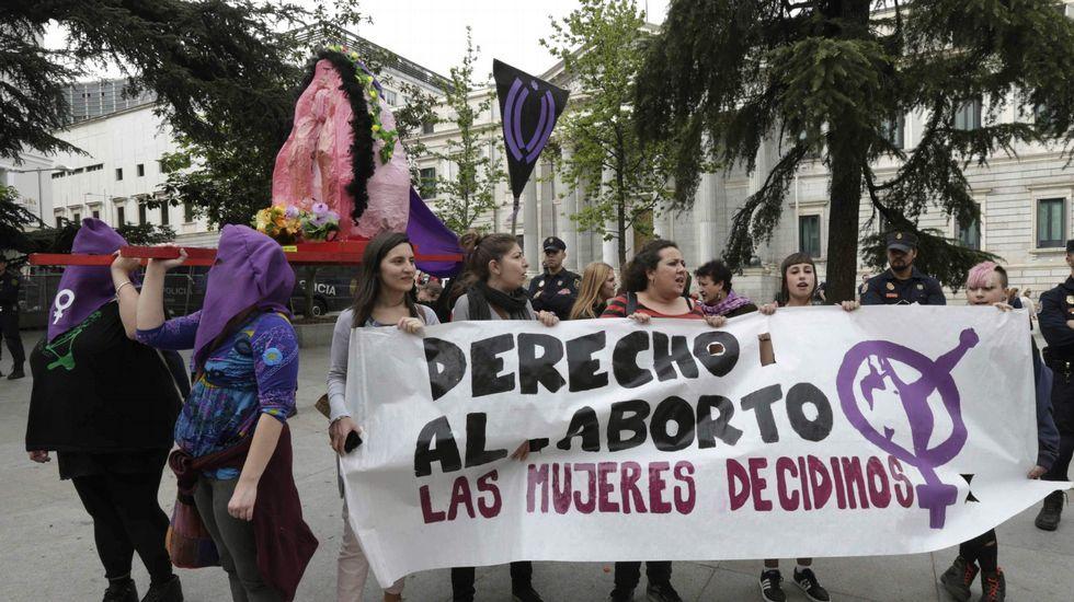 Imagen de archivo de una protesta proabortista ante el Congreso.