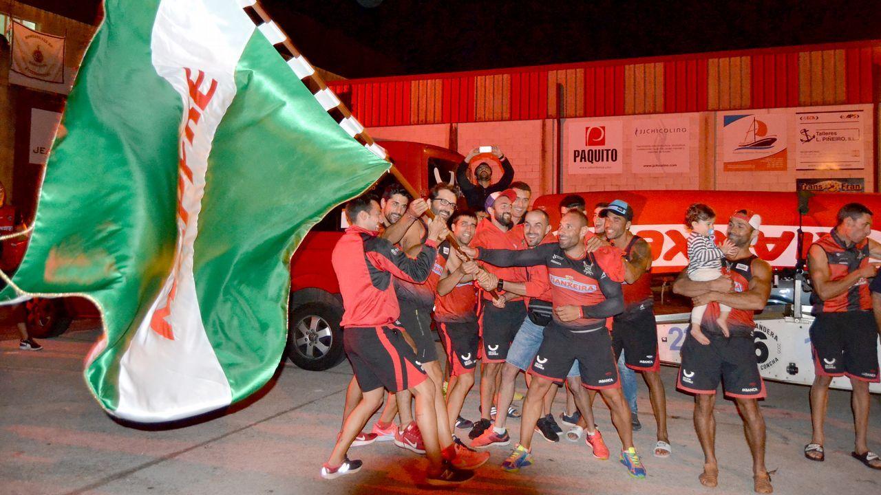 Así celebró Cabo de Cruz la bandera conseguida en Hondarribia