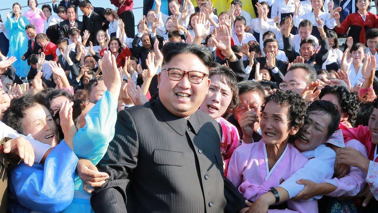 .Kim Jong-un, en una foto facilitada por el régimen de Piongyang