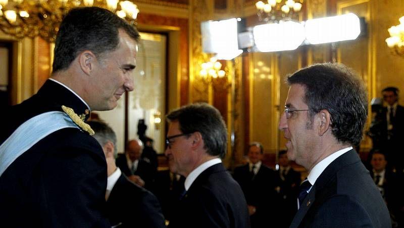 Recepción en el Palacio Real.Un momento del rodaje de «El invasor» (2012) en la plaza de Mina.