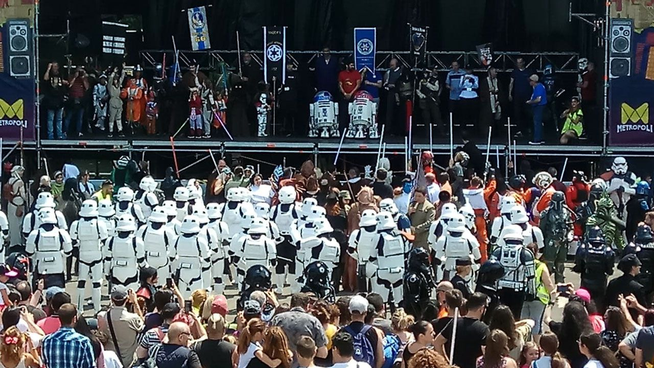 Final del Desfile Star Wars en Metrópoli 2018