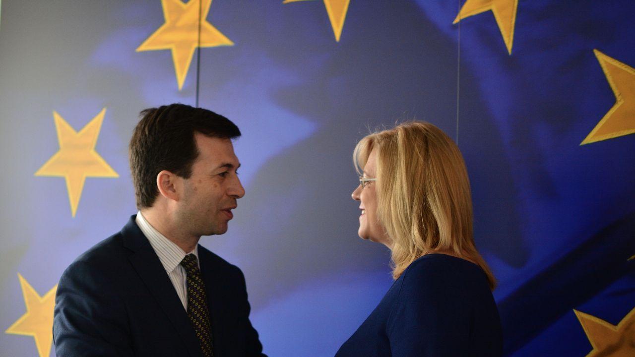 .Caballero se encontró con la comisario de Política Regional, la rumana Corina Cretu