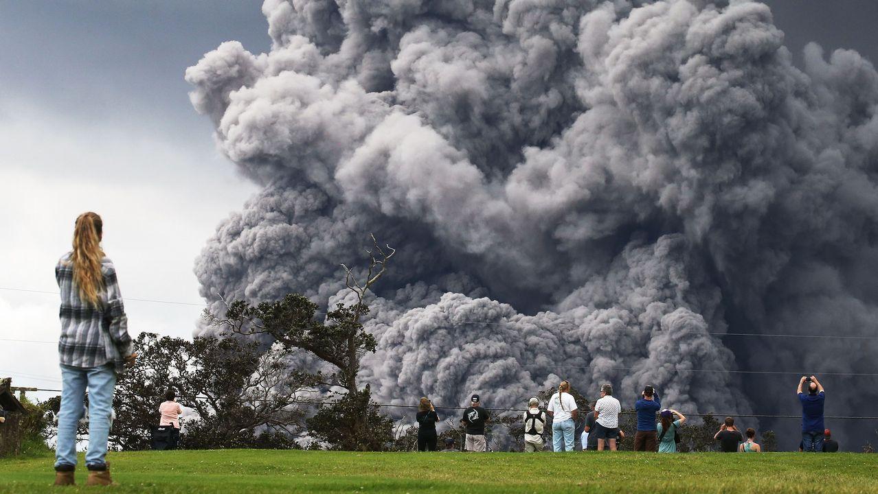 Alerta roja en Hawai por la nube de de cenizas del volcán Kilauea