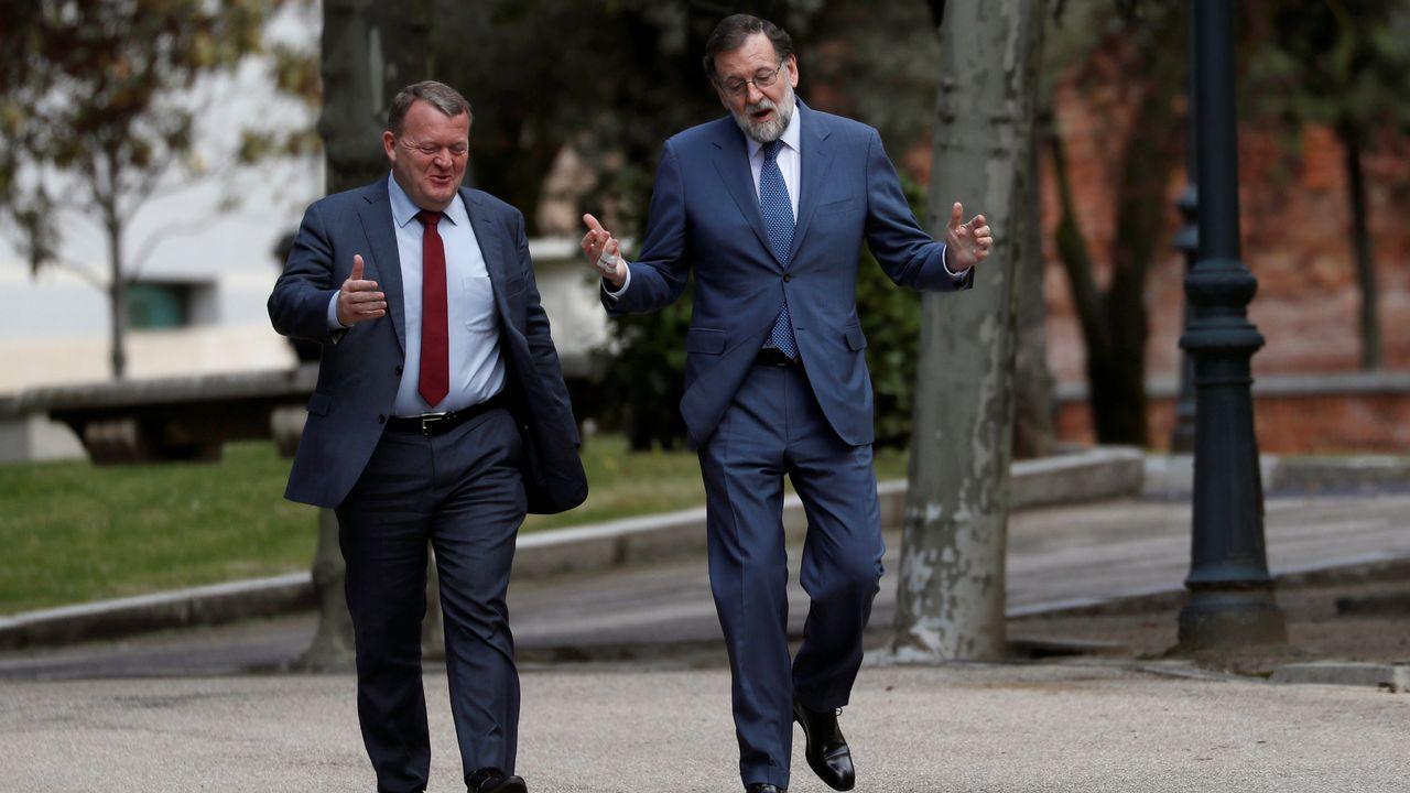 Rajoy y Cristina Cifuentes, en la convención del PP