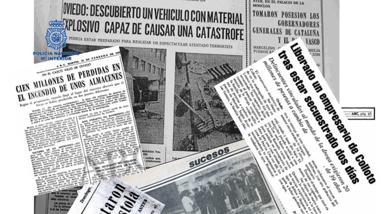 Collage de noticias sobre ETA-ASTURCÓN en diferentes periódicos
