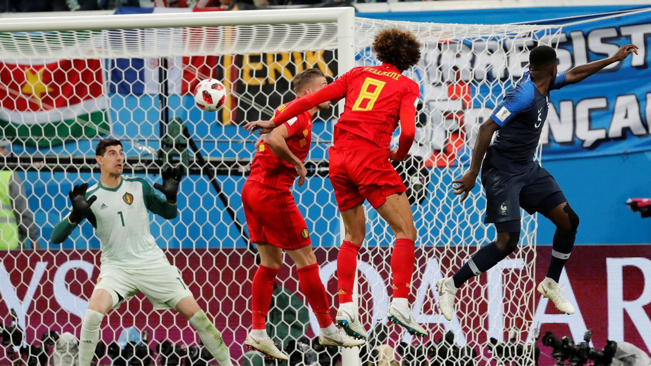 Las mejores imágenes de la semifinal entre Franciay Bélgica