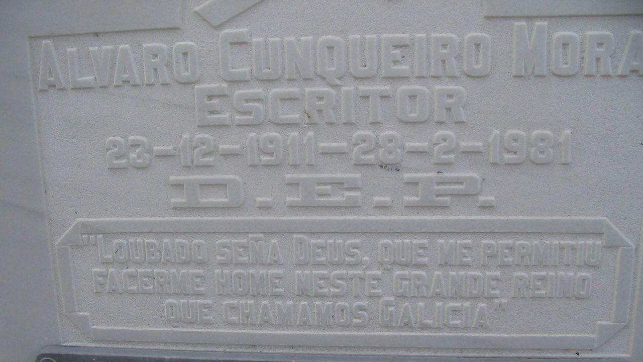 Tumba de Álvaro Cunqueiro