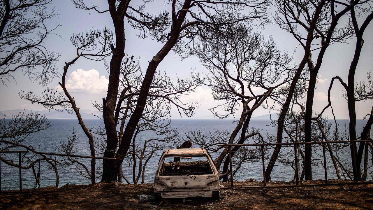 .El fuego se cobró casi 90 vidas en Grecia