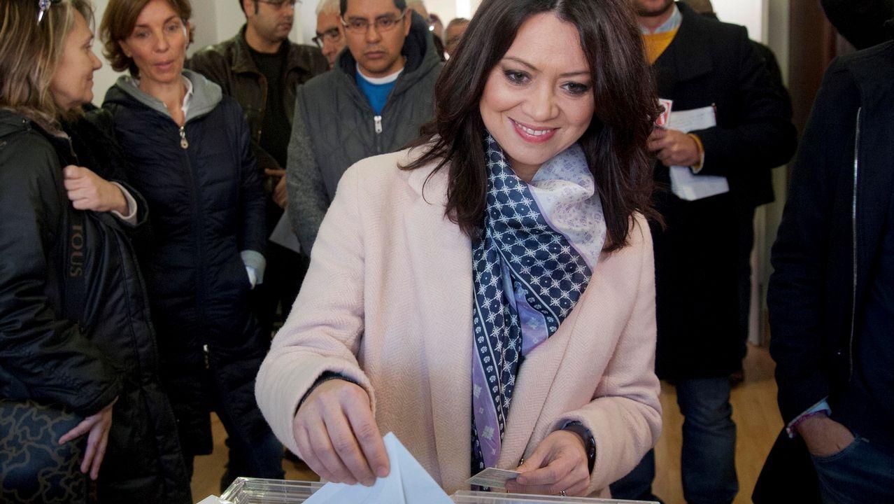 .Votación de la esposa de Carles Puigdemont, Marcela Topor.