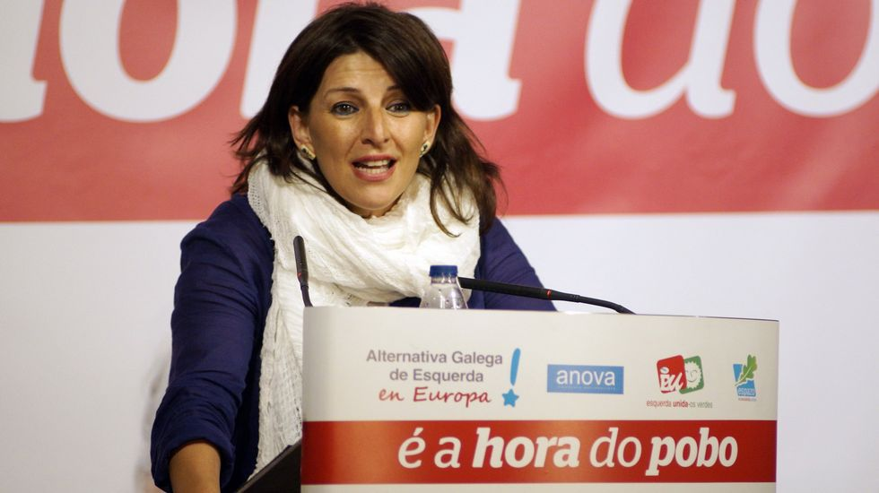 .Yolanda Díaz, en un mitin de AGE