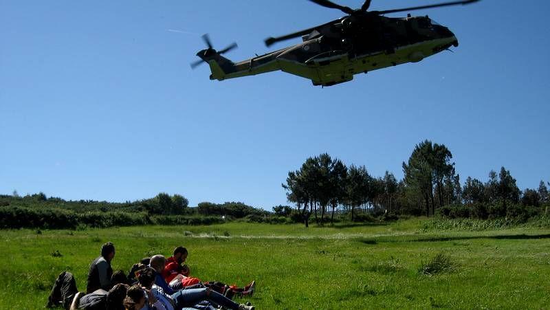 Simulacro de accidente aéreo en Santiago.