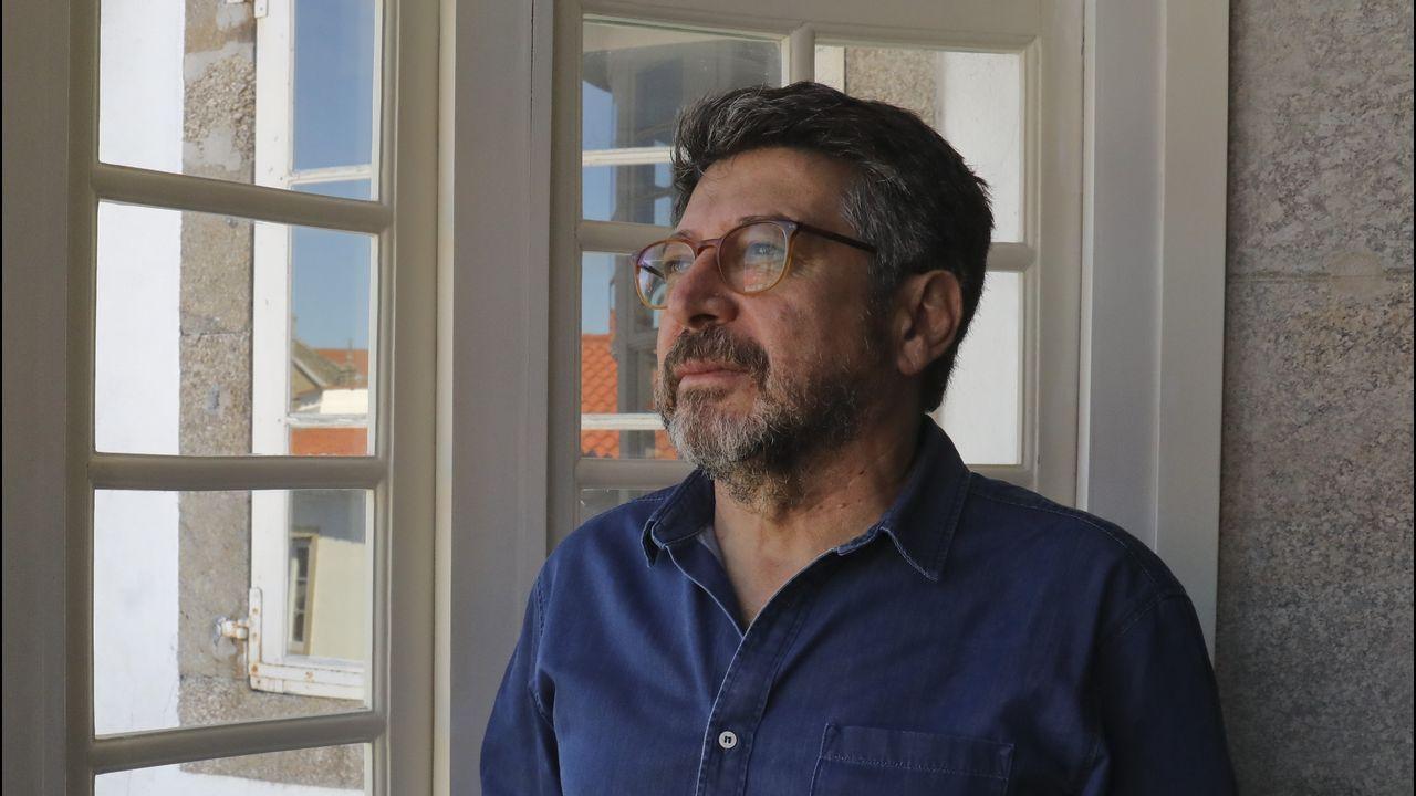 Matías Varela, pregonero de la Festa do Albariño.Alejandro Díaz Castaño y Vicente Domínguez, en la presentación del ciclo FICX/Laboral Cinemateca