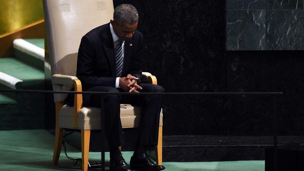 Las mejores imágenes de la 64 edición del Festival de San Sebastián.Obama reflexiona antes de iniciar su última intervención ante la Asambela de la ONU como presidente del EE. UU.