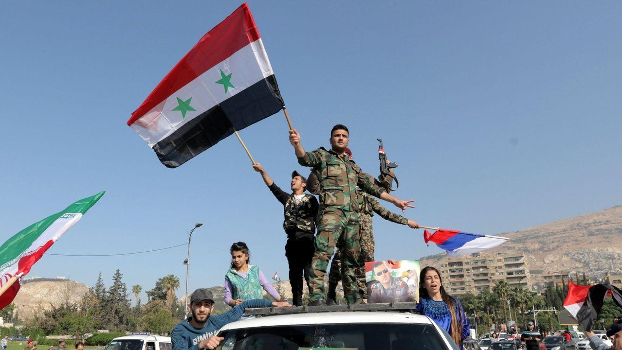 Así estudian los niños en Siria.Los habitantes de Duma intentan sobrevivir en medio de las ruinas en que ha quedado la ciudad tras años de asedio
