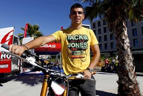 Jorge Casales pasó cuatro días en Vigo antes de preparar la última cita del mundial de trial.