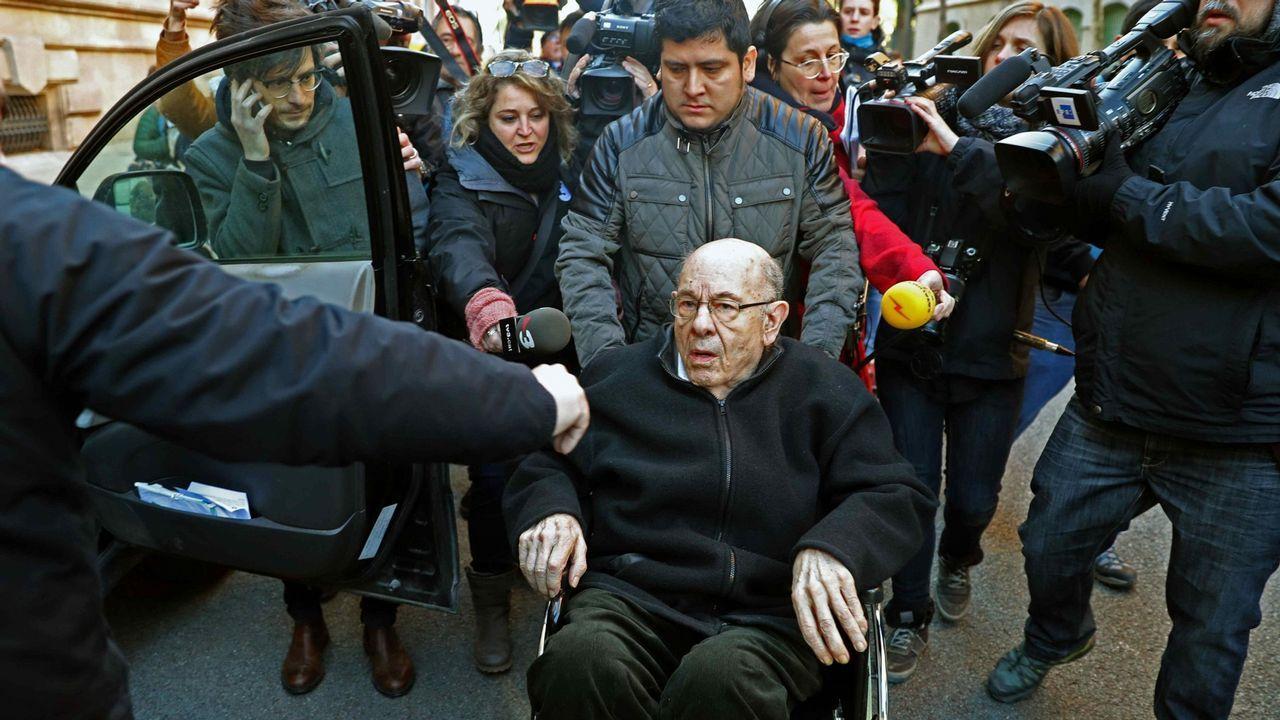 .Millet, a la salida de la Audiencia de Barcelona el pasado mes de enero