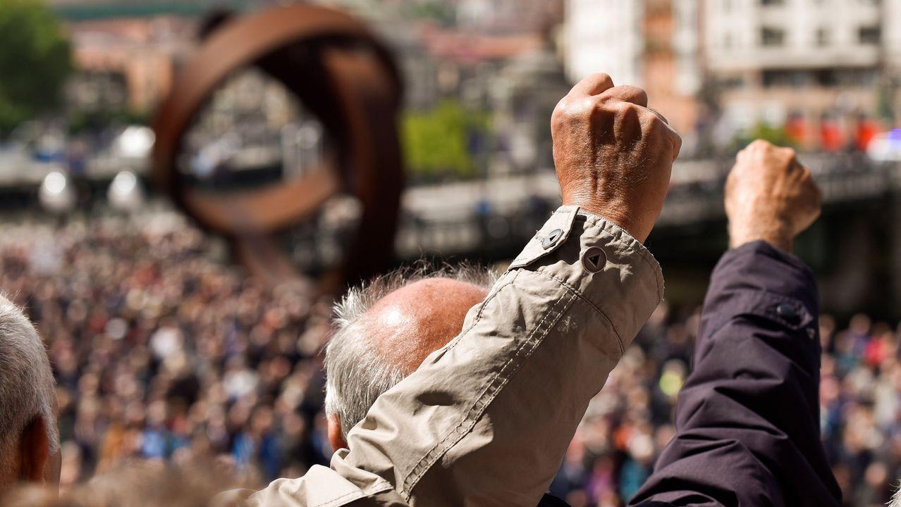 .Organizaciones de pensionistas han vuelto a celebran hoy concentraciones en Bilbao para reclamar mejores en las pensiones