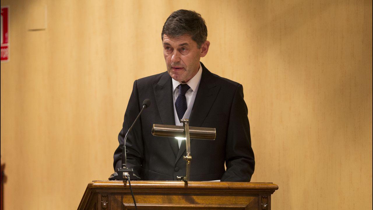 Postigo, a su llega a la Sección Tercera de la Audiencia Provincial de Oviedo