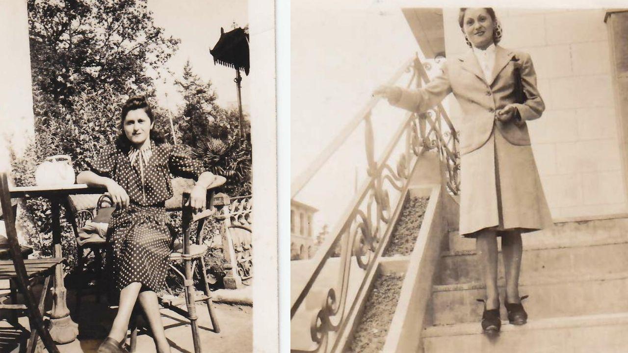 Dos de las imágenes de Angelines, la novia de Emlio Rodríguez