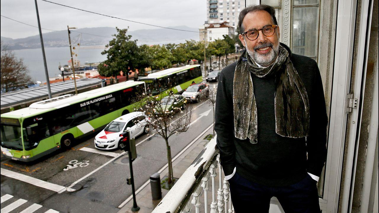 Bugallo y Sánchez, durante una visita líder socialista a Santiago en el 2014