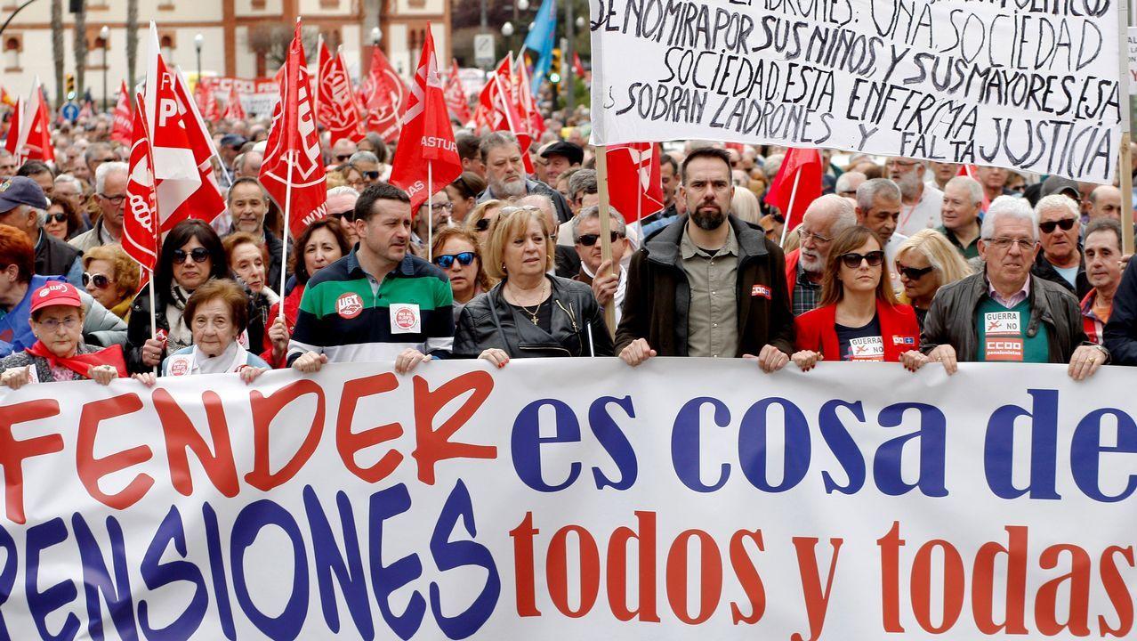 Protesta por las pensiones dignas