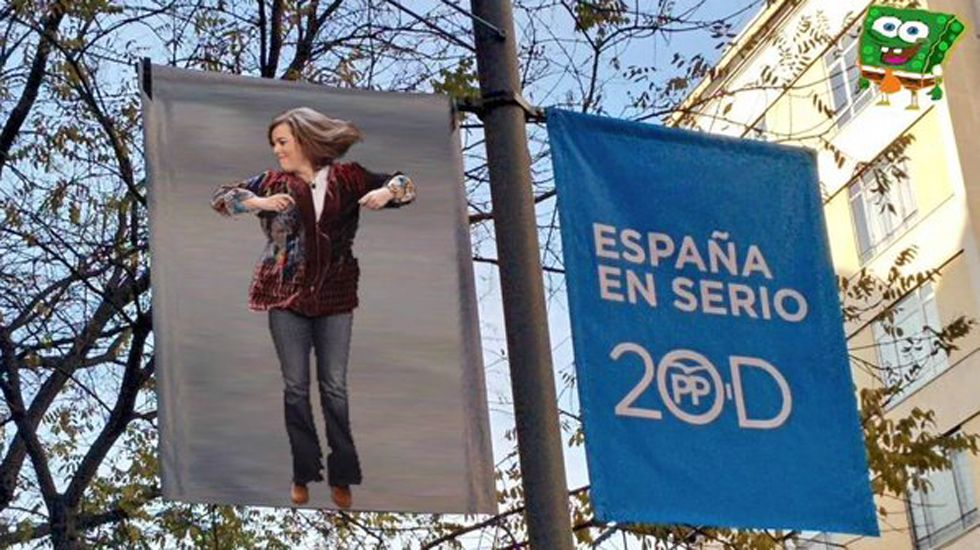 Los creadores de memes se emplean a fondo con los candidatos bailarines y el contraste con los eslóganes de sus partidos.