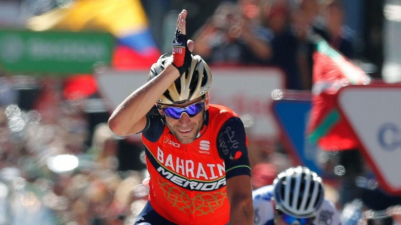 El ciclista gijonense Iván García Cortina, durante la novena etapa de la Vuelta Ciclista a España