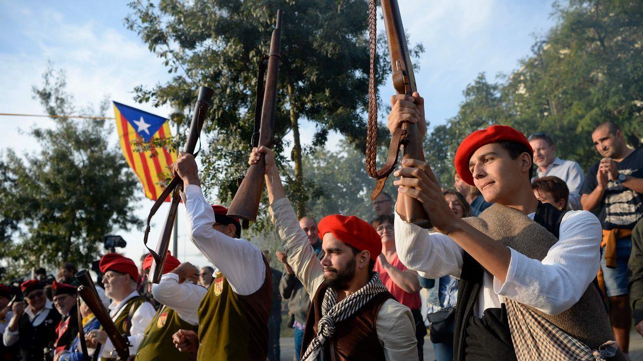 En Sant Julia de Ramis, Gerona, conmemoraron a trabucazos el aniversario del referendo ilegal del 1-O