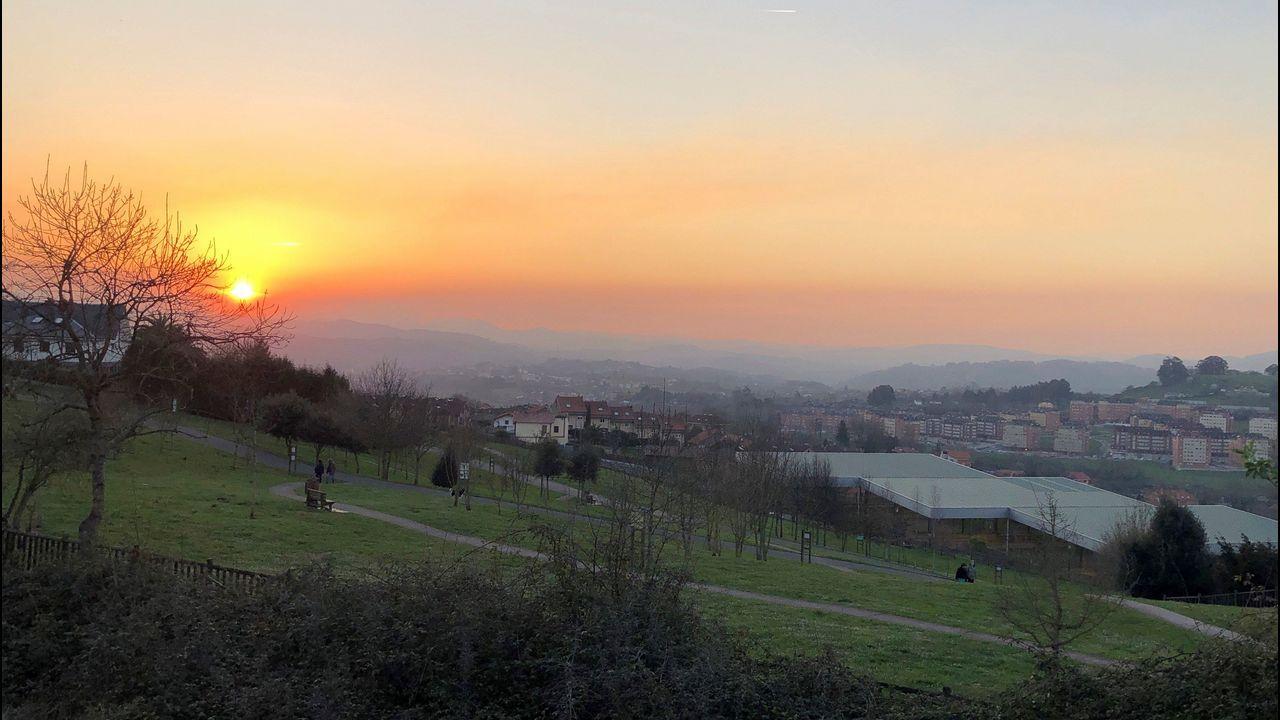 Aspecto que presenta la zona oeste de Oviedo, donde está activado el protocolo por contaminación
