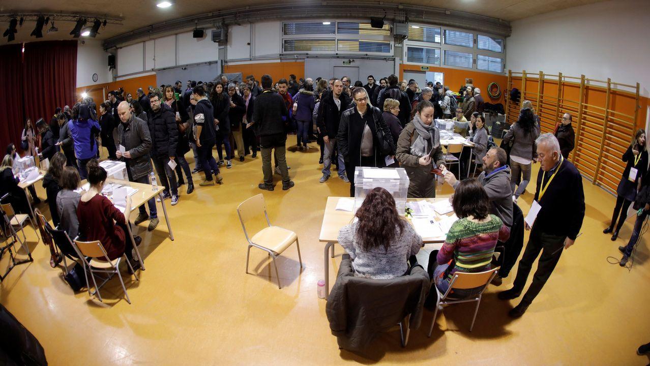 Votación del líder de la CUP. Carles Riera.