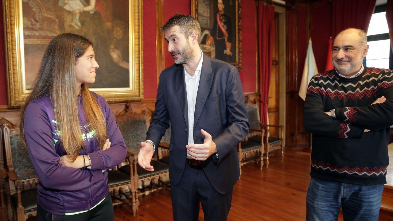 Recepción a Jessica Bouzas en el concello de Vilagarcía