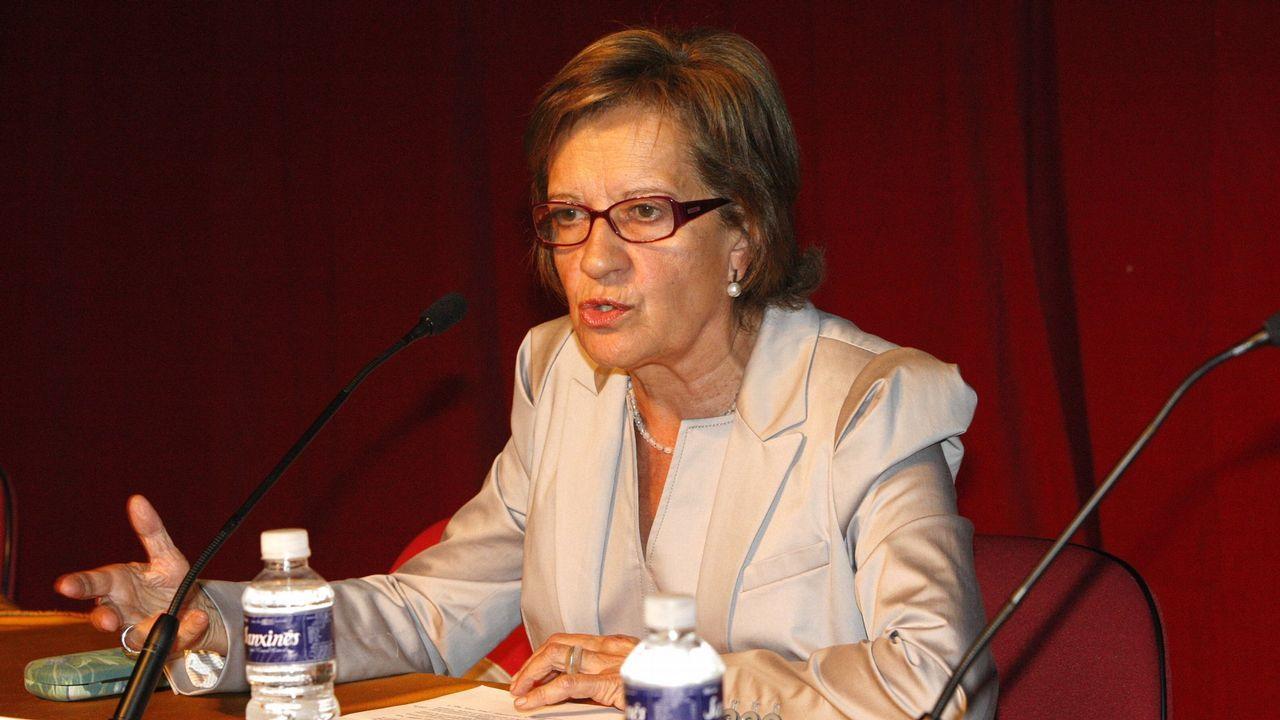 La socialista María Luisa Carcedo.Pedro Sánchez y Miquel Iceta en una foto de archivo