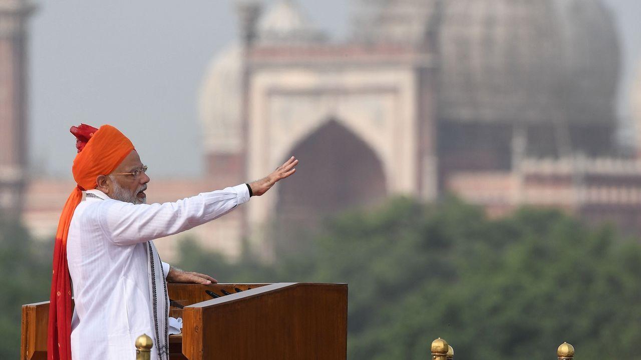 .Narendra Modi, durante el discurso
