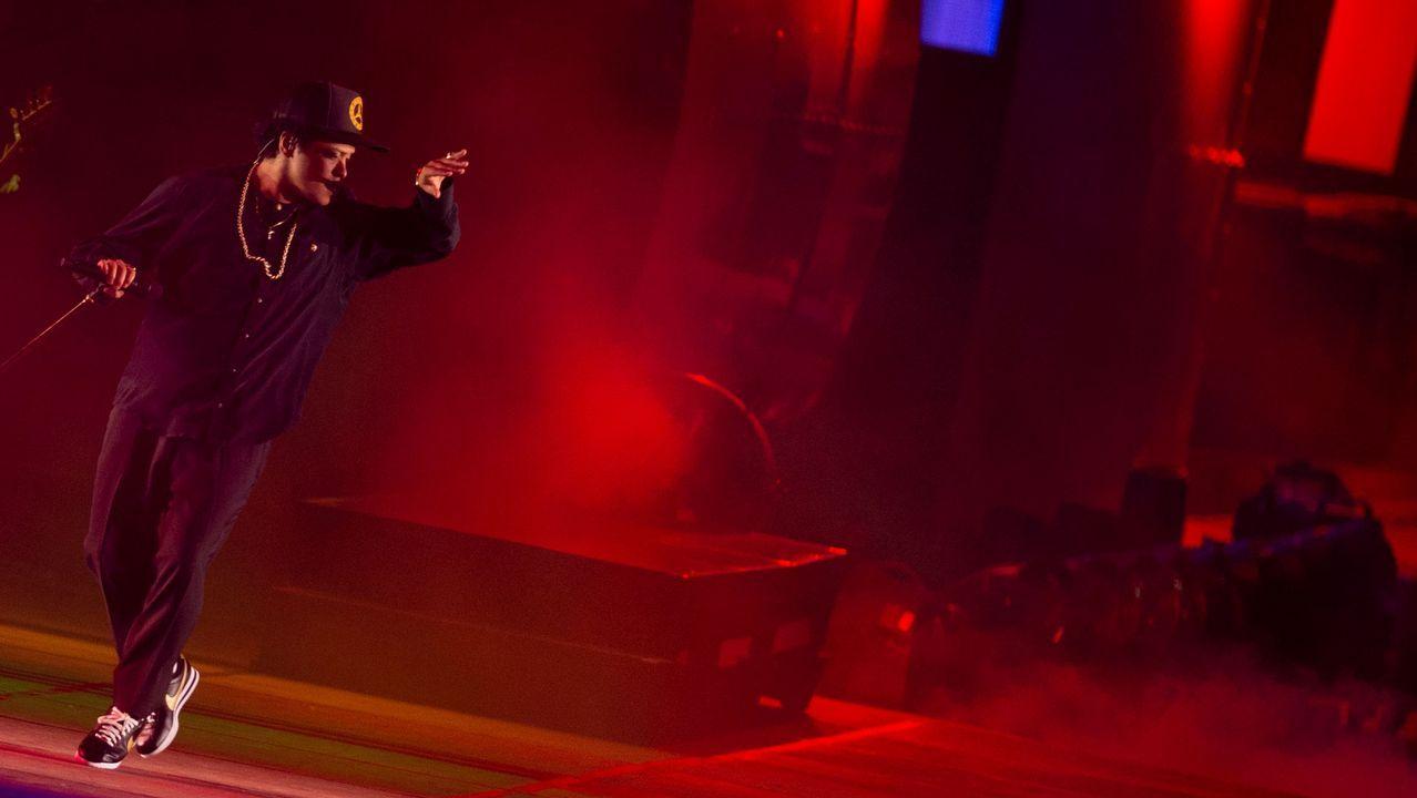 Bruno Mars en el escenario Mundo del Rock in Rio Lisboa 2018