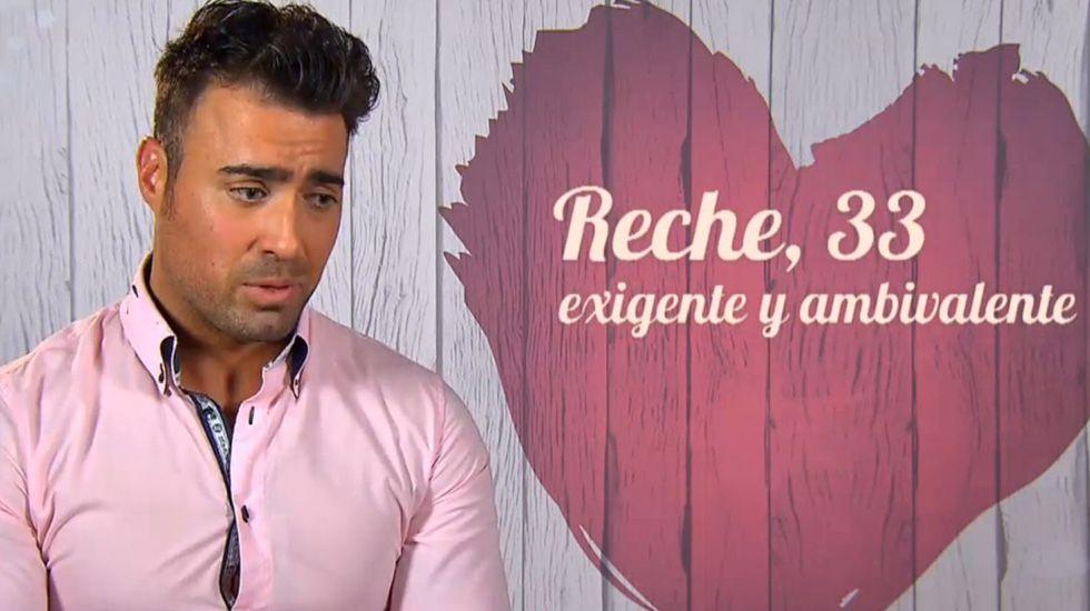 Pedro Reche en First Dates.Pedro Reche en First Dates