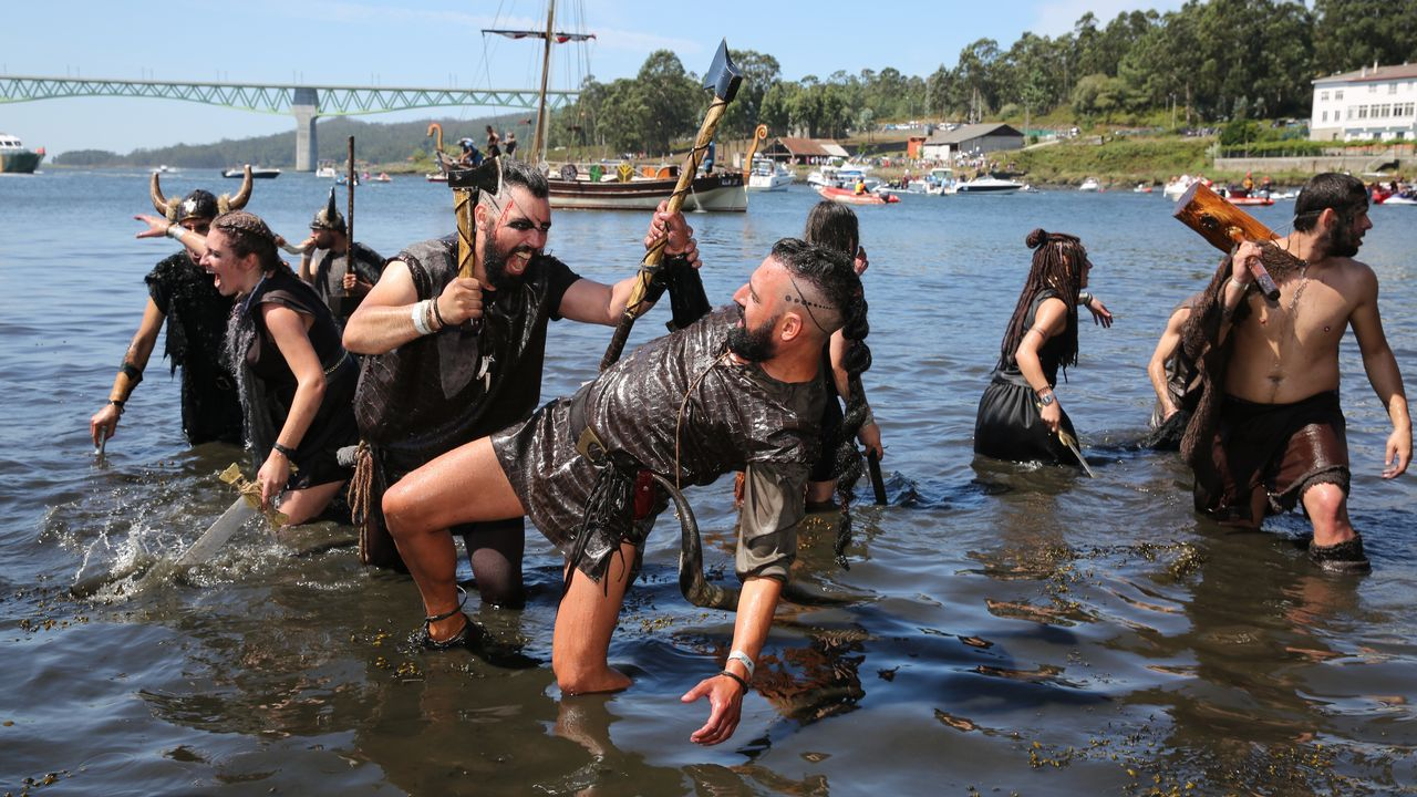 .Desembarco vikingo de Catoira