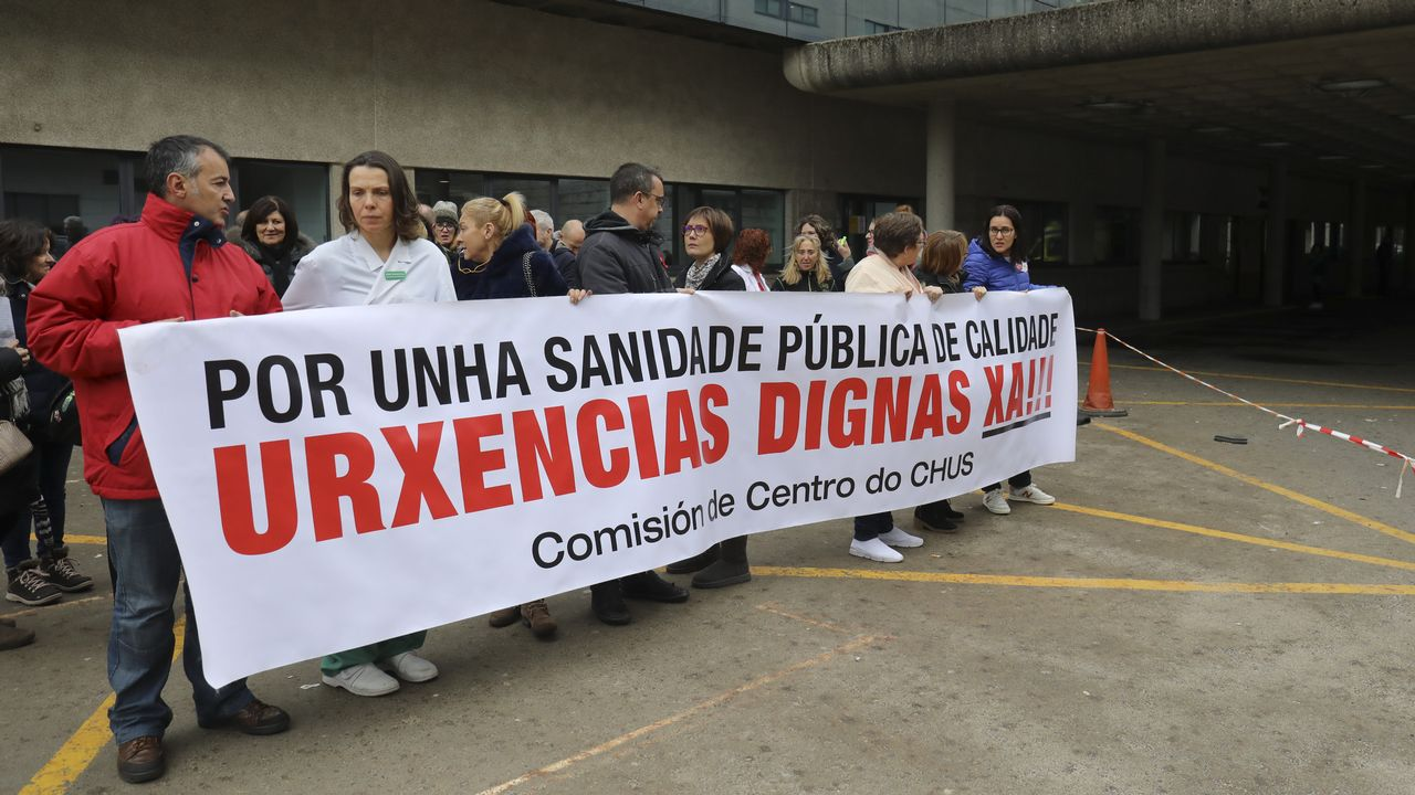 Concentracion trabajadores deUrxencias delClínico