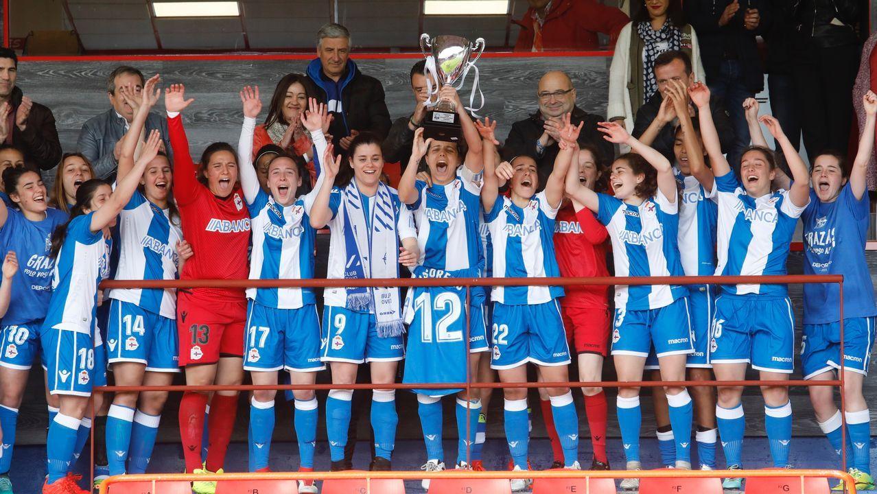 Las mejores imágenes del triunfo del Dépor Femenino en la Copa Galicia.Tere Abelleira, jugadora del Deportivo