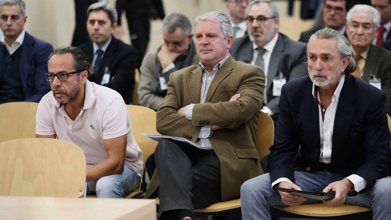 Los magistrados que ayer revisaron la sentencia del Tribunal Superior de Valencia que condenó a los cabecillas de la Gürtel