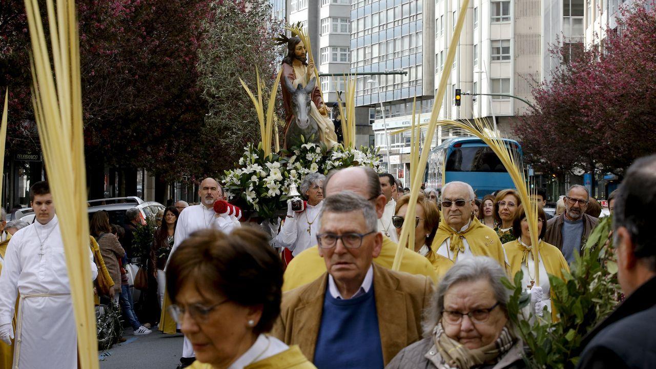 Procesión de la borriquilla en A Coruña.