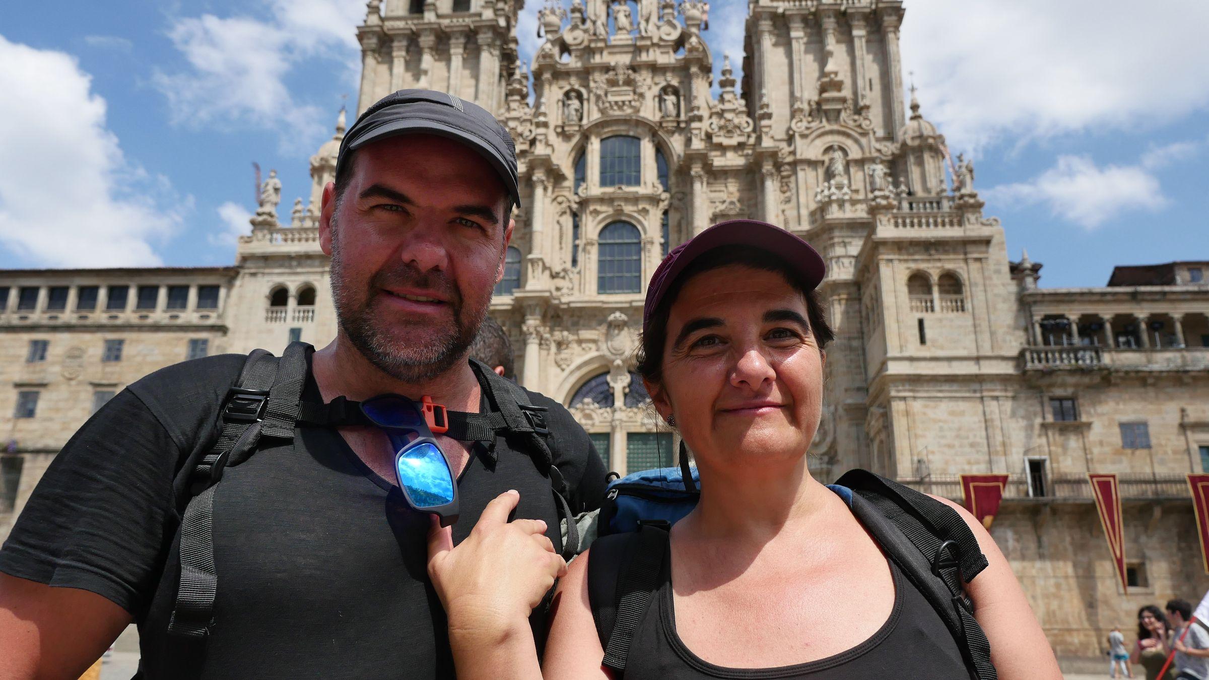 Aunque son valencianos, esta pareja no se ha querido perder la experiencia de la ruta Jacobea